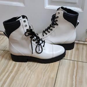 Michael Kors Bastian Lace-up White Combat Boots